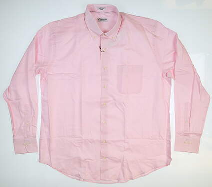 New Mens Peter Millar Button Up X-Large XL Pink MS18W02NBL MSRP $145