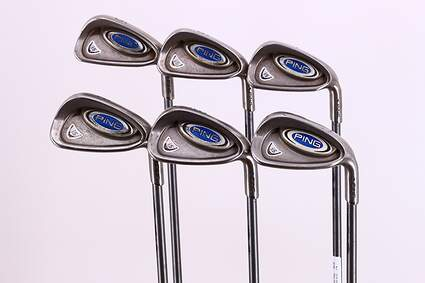 Ping i5 Iron Set 5-PW Ping TFC 100I Graphite Senior Right Handed Blue Dot 38.25in