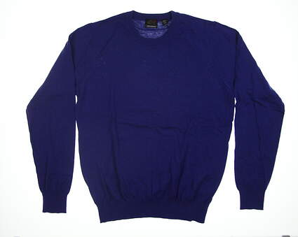 New Mens Greg Norman Forward Series Sweater Medium M Blue G7F8S132