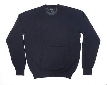 New Mens Greg Norman Forward Series Sweater Medium M Navy Blue G7F8S132