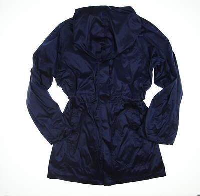 New Womens Anatomie Metallic Travel Jacket Large L Navy Blue AS7929