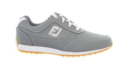 New Womens Golf Shoe Footjoy FJ Sport Retro Medium 7 Gray MSRP $100