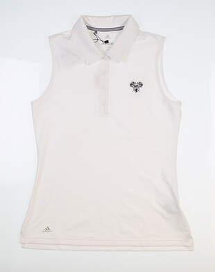 New W/ Logo Womens Adidas Sleeveless Golf Polo X-Large XL White CE3079