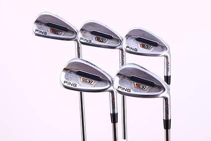 Ping S57 Iron Set 6-PW Dynalite Gold SL R300 Steel Regular Right Handed Red dot 37.5in