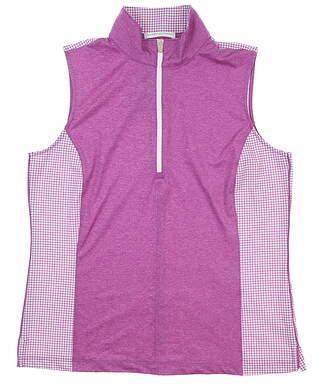 New Womens Fairway & Greene Aria Sleeveless Polo Large L Bijou I32221