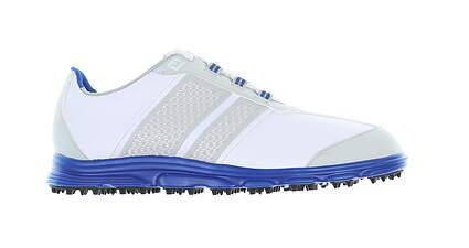 New Footjoy Junior Golf Shoe Medium 4 White/ Blue 45045 MSRP $80