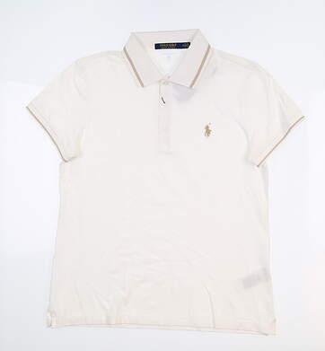 New Womens Ralph Lauren Golf Polo Medium M Off-White MSRP $98.50