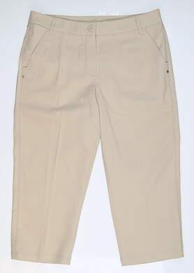 New Womens Puma Solid Tech Golf Capris 8 Khaki 568367 04