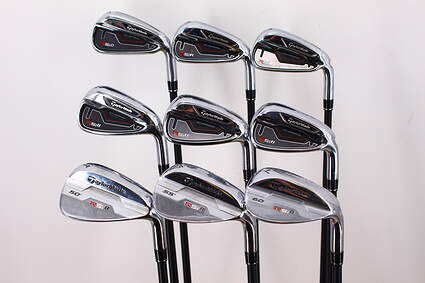 TaylorMade RSi 1 Iron Set 5-PW GW SW TM Reax 75 Graphite Stiff Right Handed 38.0in