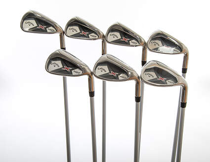 Mint Callaway X Hot 19 Iron Set 5-PW SW Project X PXv Graphite Senior Right Handed 38.0in