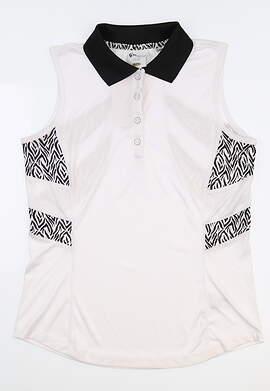 New Womens Greg Norman Sleeveless Polo X-Small XS Multi G2S8K205