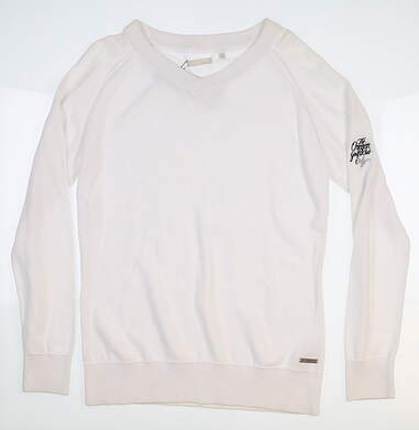 New W/ Logo Womens Adidas Essentials Sweater Large L White B88364