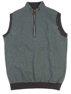 New Mens Straight Down Vest Large L Mint/ Grey