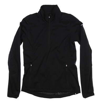 New Womens Nike Golf 1/4 Zip Wind Pullover X-Small XS Black 640562