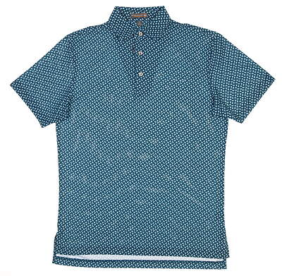 New Mens Peter Millar Golf Polo Small S Blue MS18EK56S