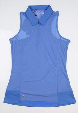 New Womens Adidas Sleeveless Golf Polo Small S Blue B83261