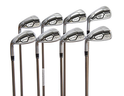 Callaway Apex CF16 Iron Set 5-PW GW SW UST Mamiya Recoil 780 ES Graphite Stiff Left Handed 38.0in