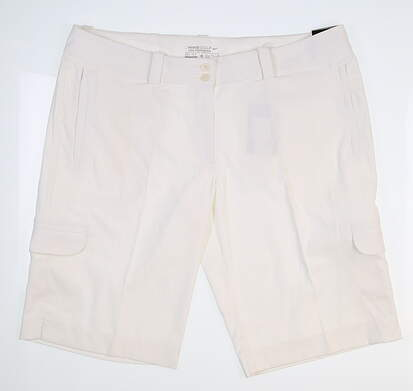 New Womens Nike Golf Shorts 12 White 377150 MSRP $70
