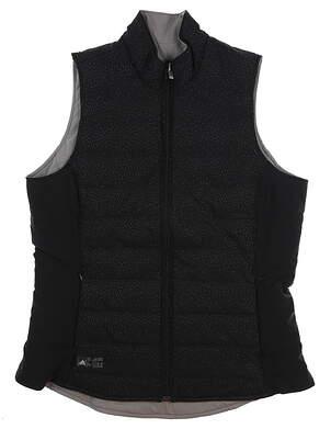 New Womens Adidas Reversible Quilted Vest Medium M Multi DP0629 MSRP $110