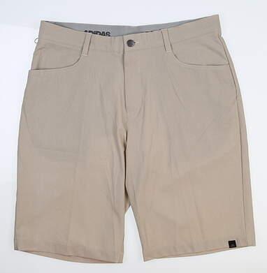New Mens Adidas Ultimate Shorts 33 Khaki BC2418 MSRP $75