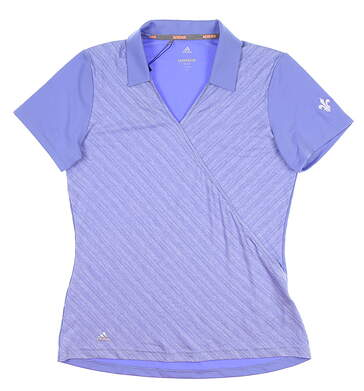 New W/ Logo Womens Adidas Novelty Polo Small S Blue CD3395 MSRP $75