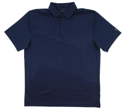 New Mens Under Armour Golf Polo Large L Navy Blue UM0551 MSRP $75