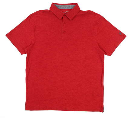 New Mens Under Armour Golf Polo Large L Red UM0571 MSRP $75