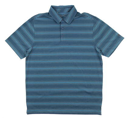 New Mens Under Armour Golf Polo Large L Blue UM0581 MSRP $75