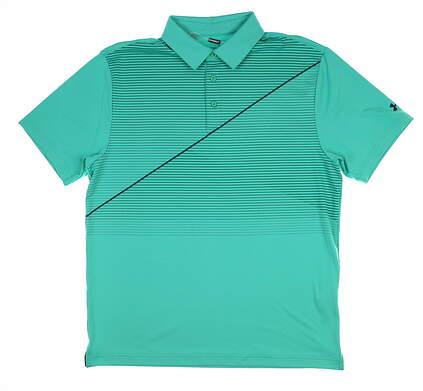New Mens Under Armour Golf Polo Large L Green UM0585 MSRP $75