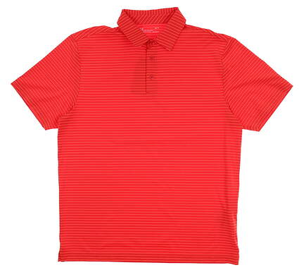 New Mens Under Armour Golf Polo Large L Red UM0545 MSRP $75