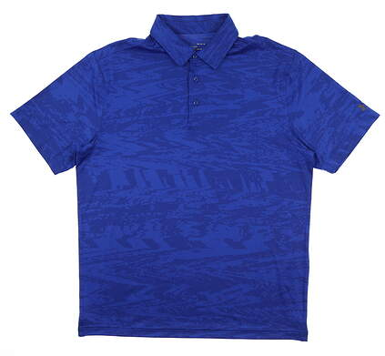 New Mens Under Armour Golf Polo Large L Blue UM0579 MSRP $75