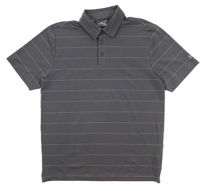 New Mens Under Armour Golf Polo Large L Gray UM0541 MSRP $75