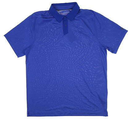 New Mens Under Armour Golf Polo Large L Blue UM0572 MSRP $75