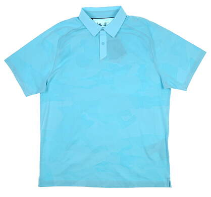 New Mens Under Armour Threadborne Golf Polo Large L Blue UM0587 MSRP $75