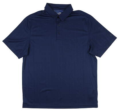 New Mens Under Armour Golf Polo Large L Blue UM0544 MSRP $75