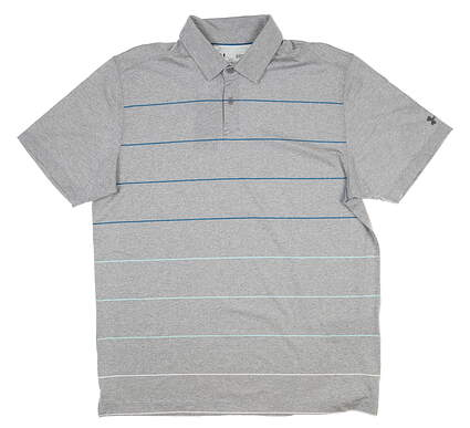 New Mens Under Armour Golf Polo Large L Steel UM0564 MSRP $75