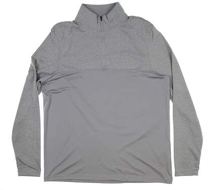 New Mens Under Armour Scratch 1/4 Zip Pullover Large L Gray UM7183 MSRP $60