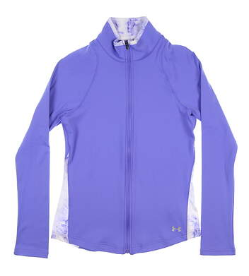 New Womens Under Armour Full Zip Mock Neck Small S Purple UW1211 MSRP $70