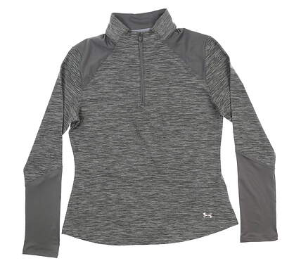 New Womens Under Armour Golf 1/4 Zip Pullover Small S Gray UW1213 MSRP $70