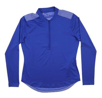 New Womens Under Armour Golf 1/2 Zip Pullover Medium M Blue UW1229 MSRP $70