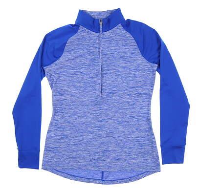 New Womens Under Armour Golf 1/2 Zip Pullover Medium M Blue UW2351 MSRP $70