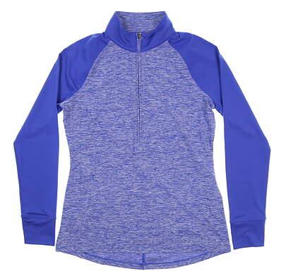 New Mens Under Armour Golf 1/2 Zip Pullover Medium M Blue UW2351 MSRP $70