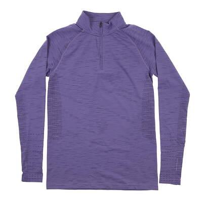 New Womens Under Armour Golf 1/4 Zip Pullover Small S Purple UW1239 MSRP $70