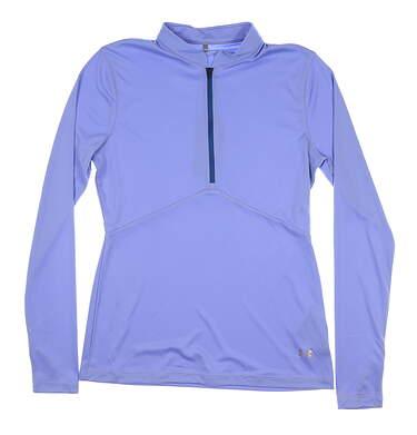 New Mens Under Armour Golf 1/2 Zip Pullover Medium M Blue UW1435 MSRP $60