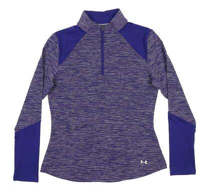 New Womens Under Armour Golf 1/4 Zip Pullover Small S Purple UW1213 MSRP $70