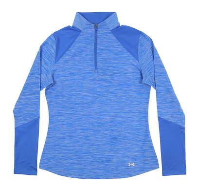 New Womens Under Armour Golf 1/4 Zip Pullover Medium M Blue UW1213 MSRP $70