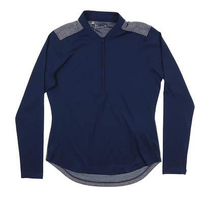 New Womens Under Armour Golf 1/2 Zip Pullover Medium M Navy Blue UW1229 MSRP $70