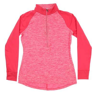 New Womens Under Armour Golf 1/2 Zip Pullover Medium M Pink UW2351 MSRP $70