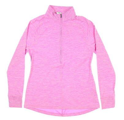 New Womens Under Armour Golf 1/2 Zip Pullover Medium M Pink UW2350 MSRP $70