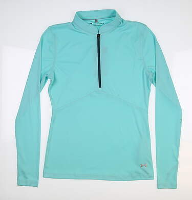 New Womens Under Armour Golf 1/2 Zip Pullover Medium M Blue UW1435 MSRP $60